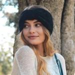 Ultra Soft Mohair Headband - Black