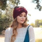 Ultra Soft Mohair Headband - Burgundy