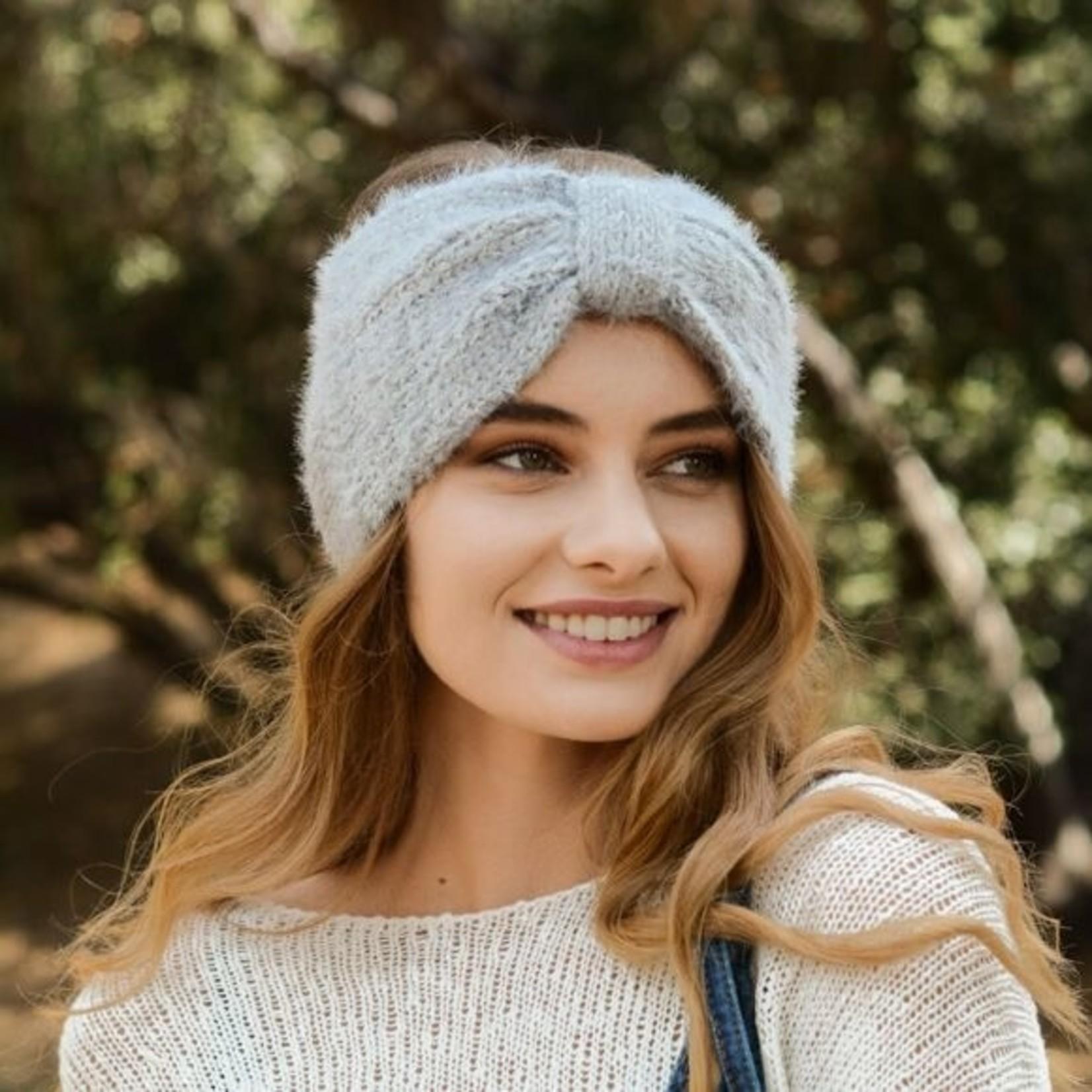 Ultra Soft Mohair Headband - Grey