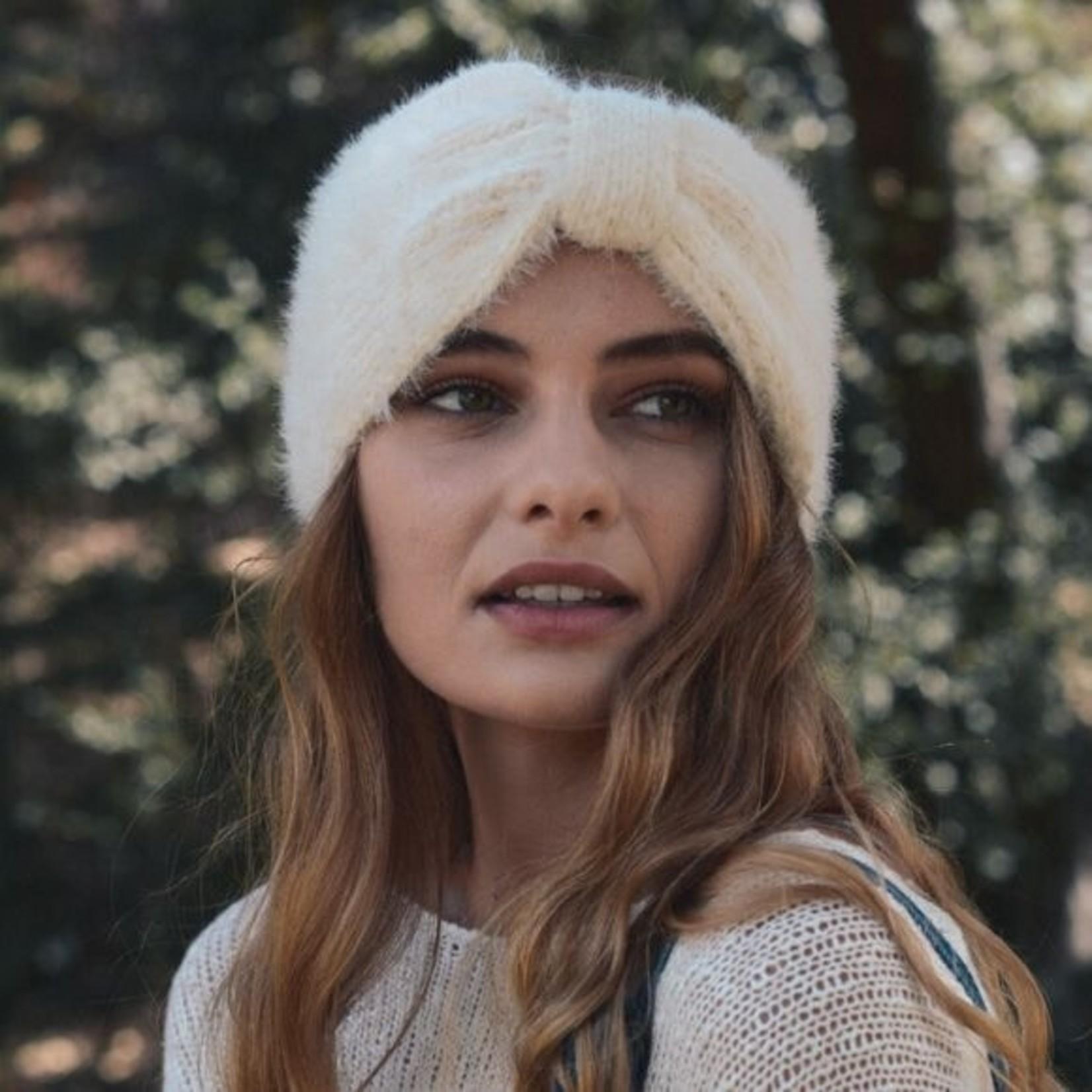 Ultra Soft Mohair Headband - Ivory