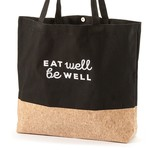 Be Our Guest Cotton & Cork Shopping Bag - Eat Well