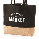 Be Our Guest Cotton & Cork Shopping Bag - To Market