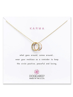 """DOGEARED / Triple Karma Ring Necklace 18"""" (Mixed, o/s)"""
