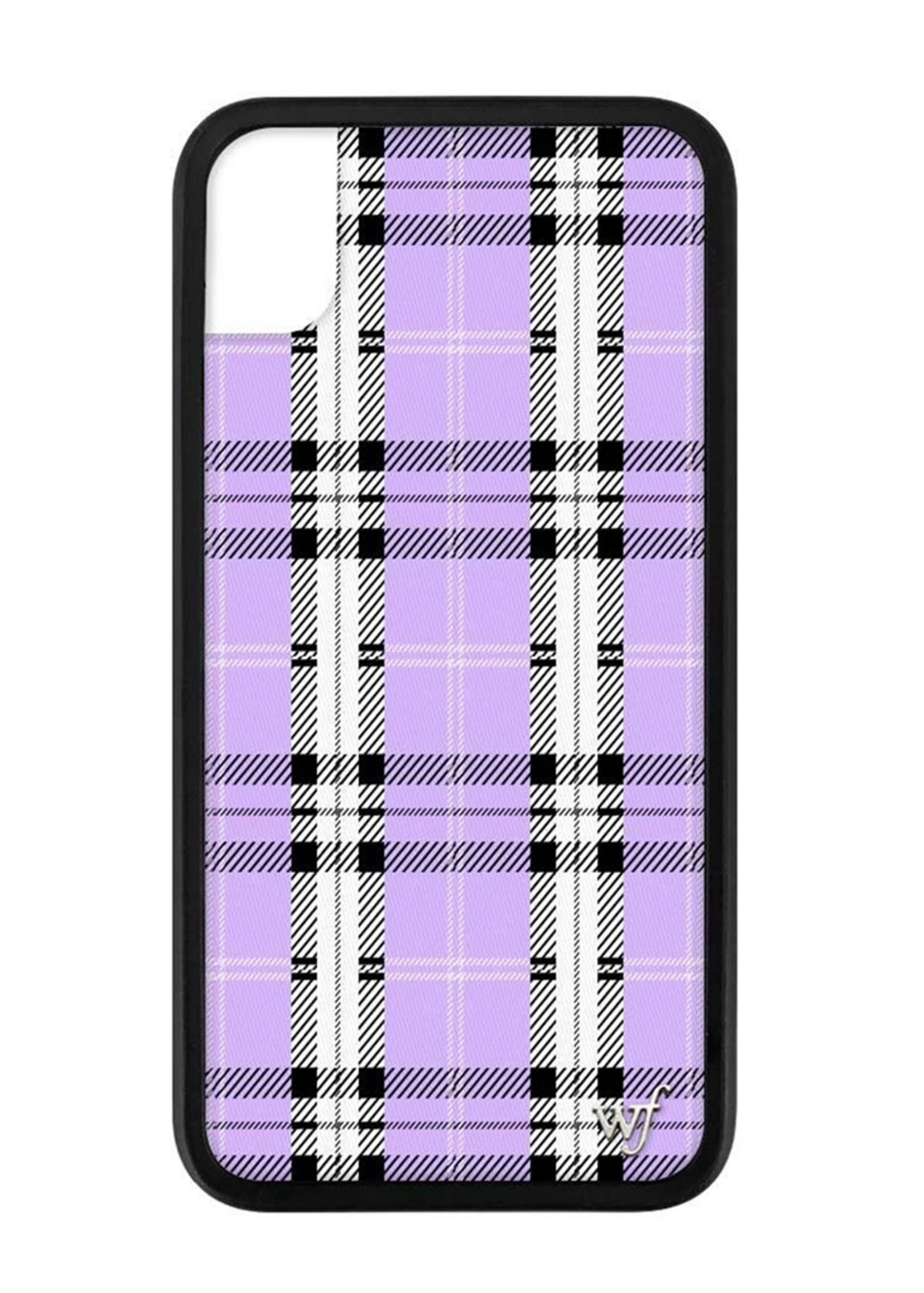 WILDFLOWER / Lavender Plaid iPhone XR