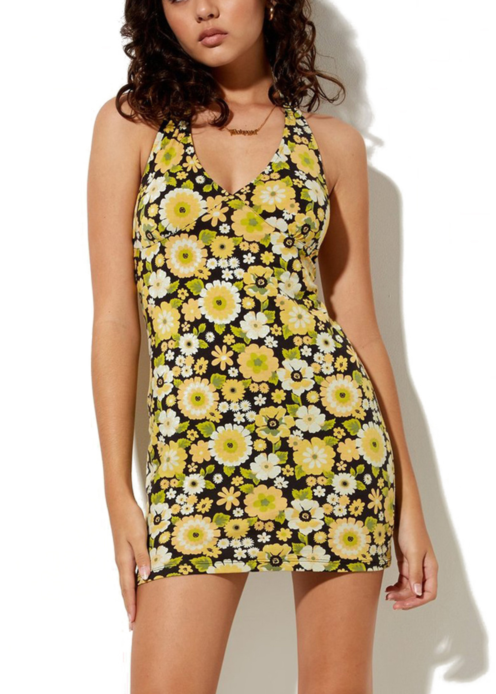 MOTEL MOTEL / Yvette Dress Retro Floral
