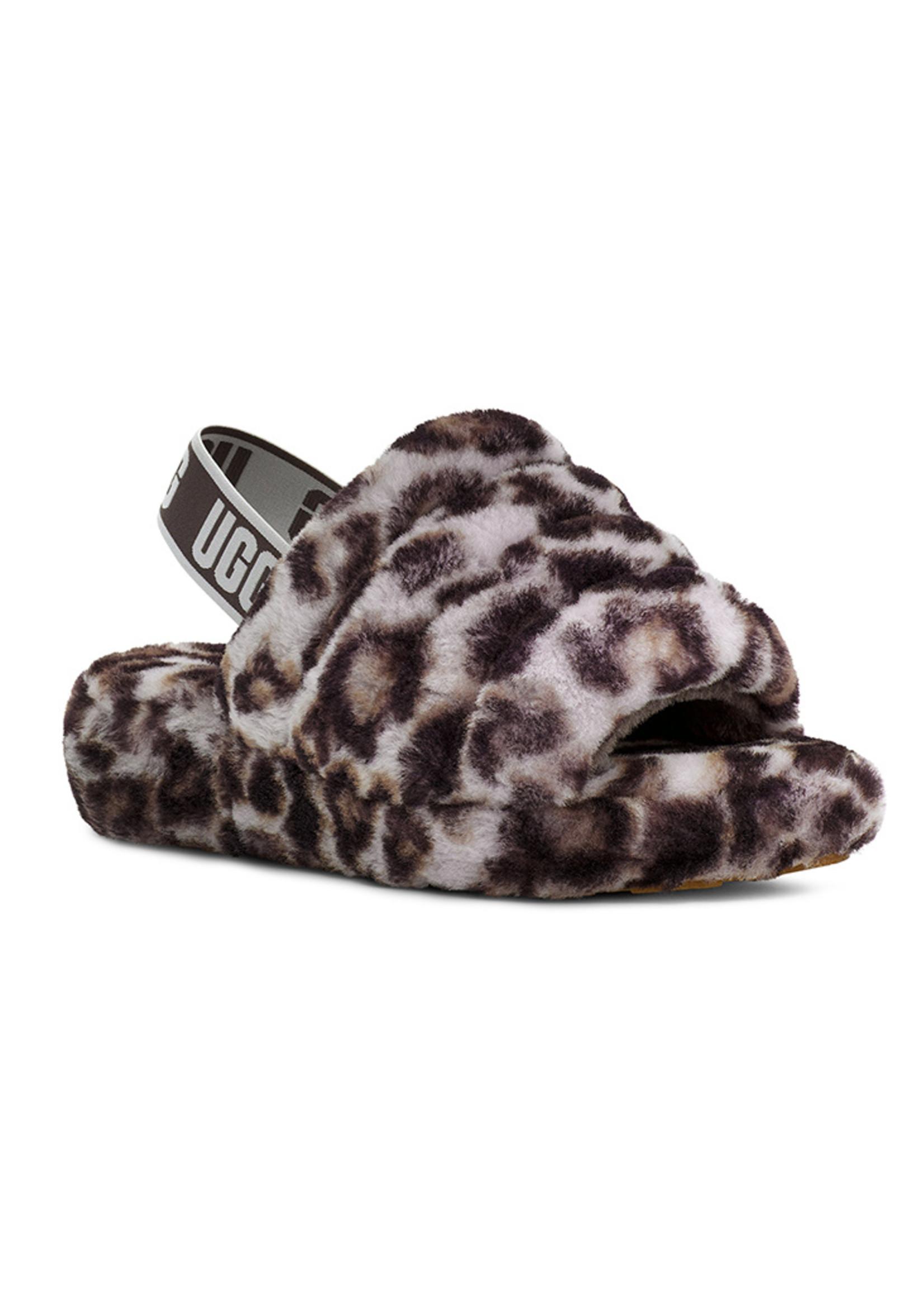 UGG UGG / Women's Fluff Yeah Slide Panther Print