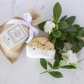 LUX BOTANICALS SOAPS SOAP W/SPONGE ROYAL GARDENIA