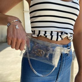 DTLA BELT BAG - CLEAR SILVER