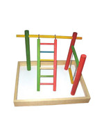 """A&E  Large Wood Table Top Play Station(without T perch)20""""x15""""x14"""""""