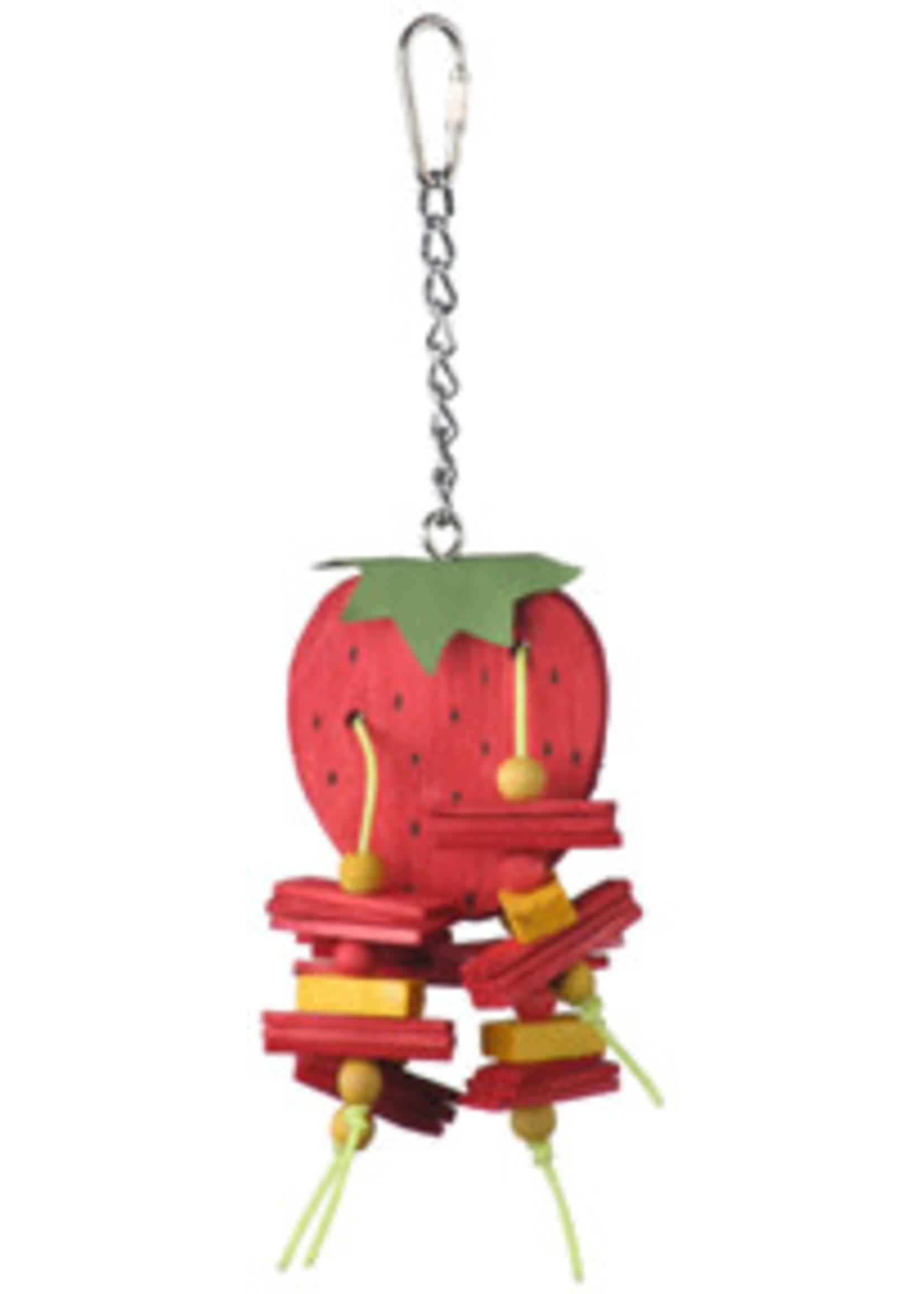 A&E  Small Strawberry Bird Toy HB01422