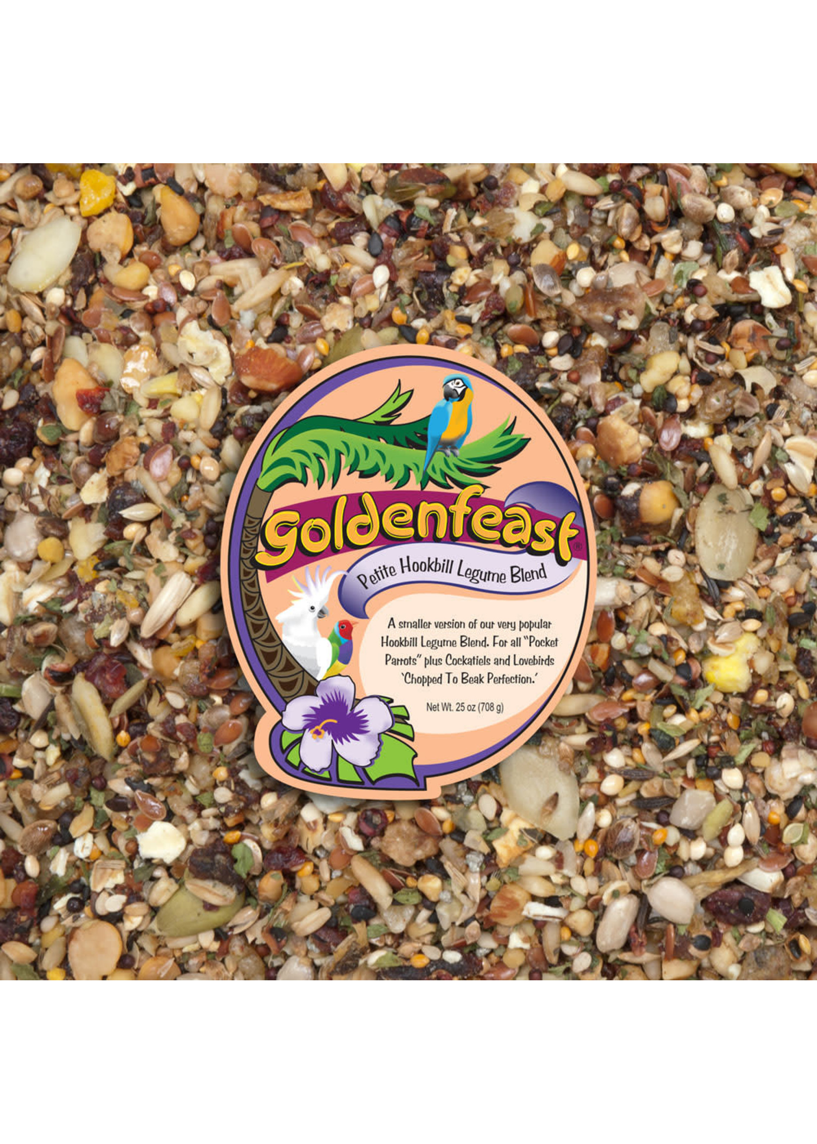Goldenfeast GF Petite Hookbill Legume Blend (32LB)
