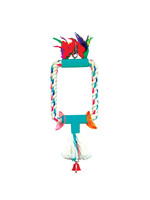 King's ACRYLIC SM OPEN RECTANGLE WITH TASSEL K333