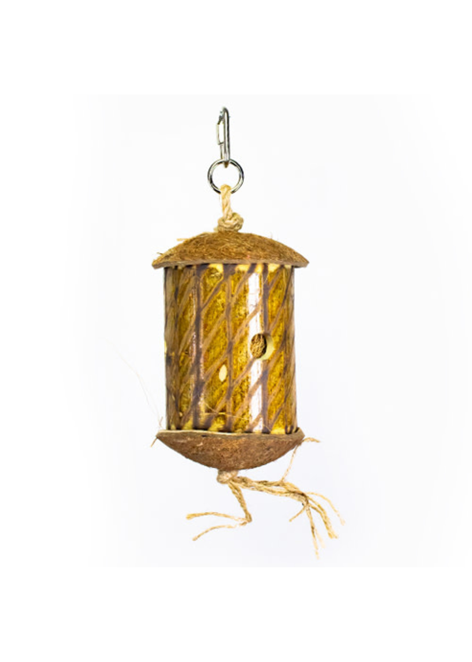 Kings Cages Kings S025 FORAGING BAMBOO TUBE WITH COCONUT FIBER S025