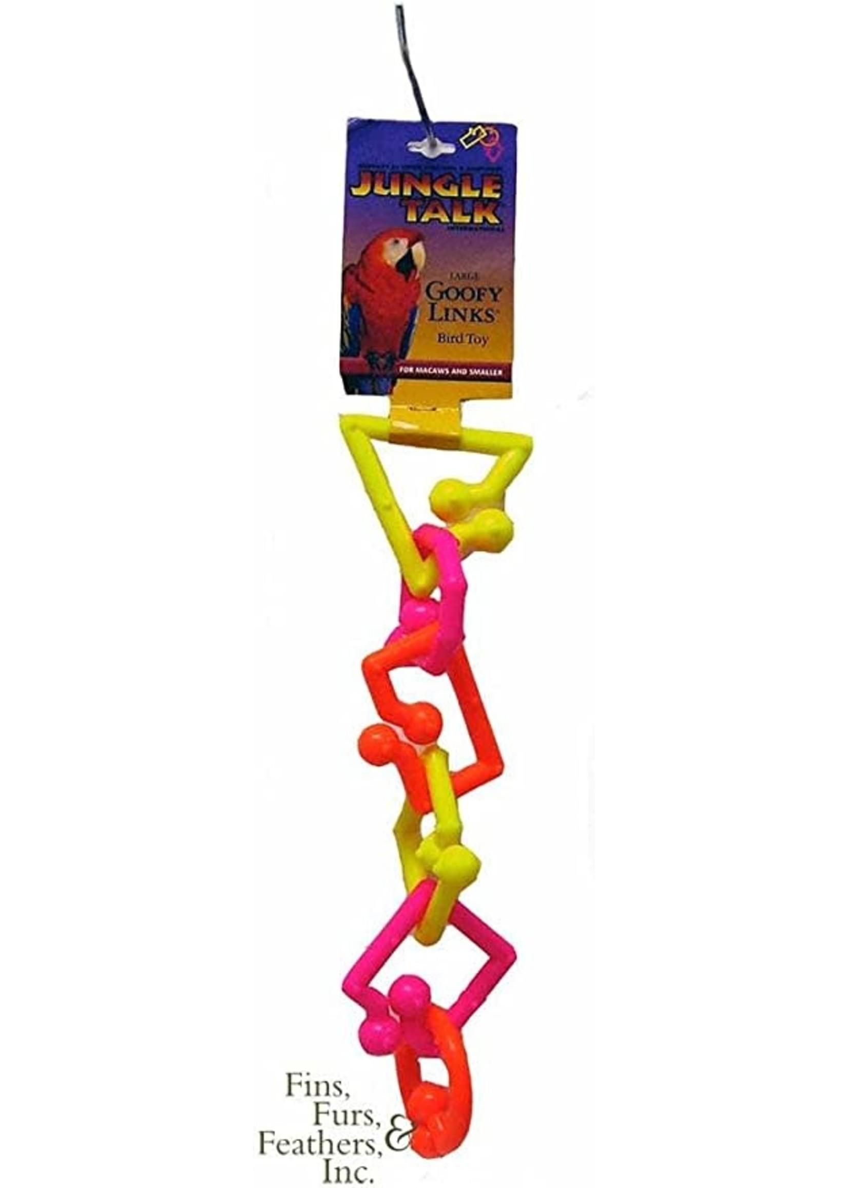 Jungle Talk Goofy Links Plastic Bird Toy (Neon, Large)