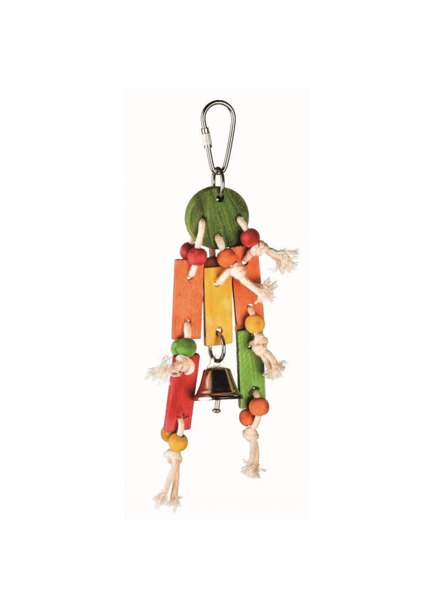 Jolly Jungle GP SMALL COIN TOSS BIRD TOY WITH BELL