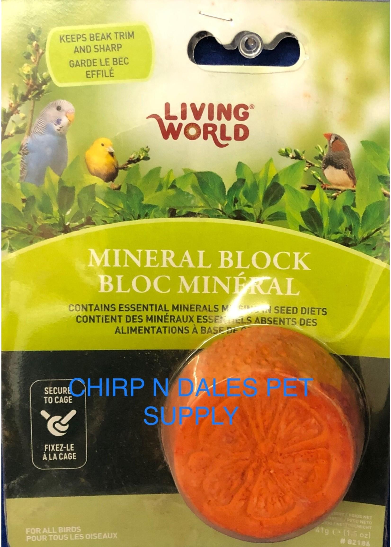 Living World Living World Mineral Block, Orange (for Parakeets), 55g