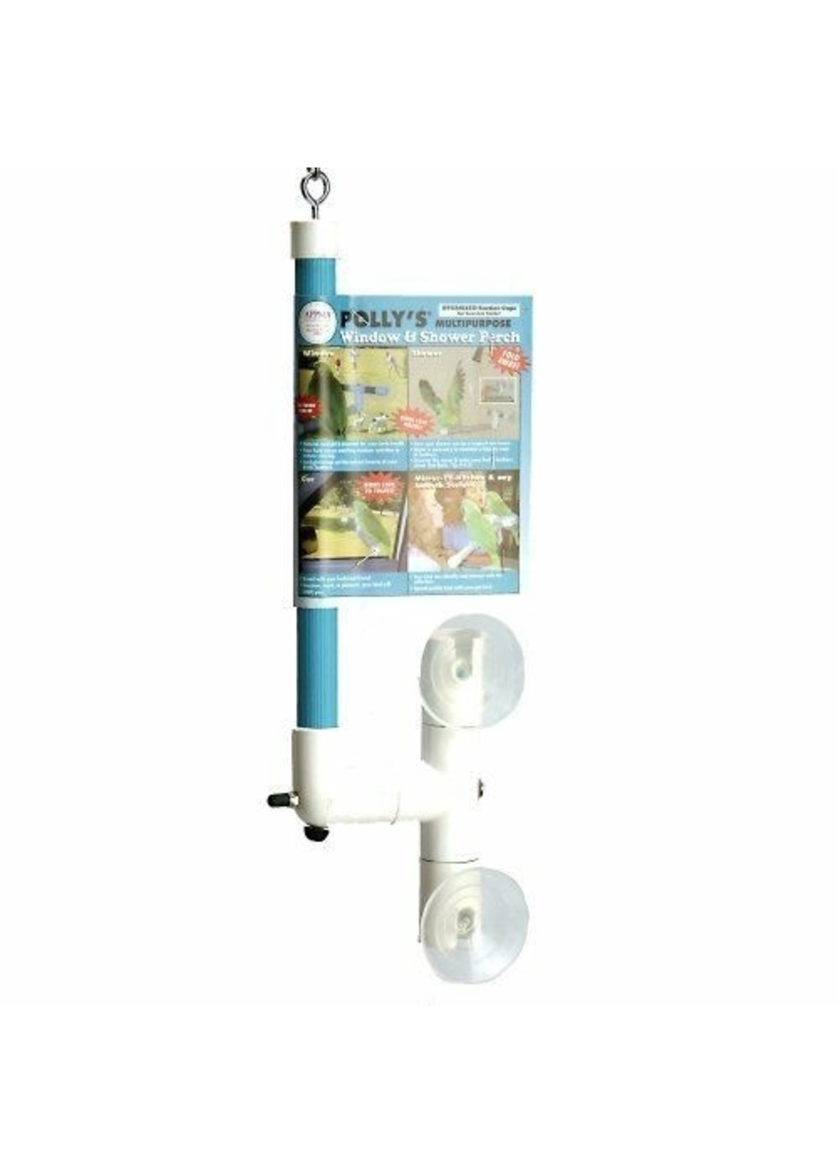 Polly's  Pet Products Polly's Window and Shower Perch Large