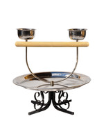 Kings Cages Kings Cages TT-70 METAL TABLETOP PLAYSTAND  White Base
