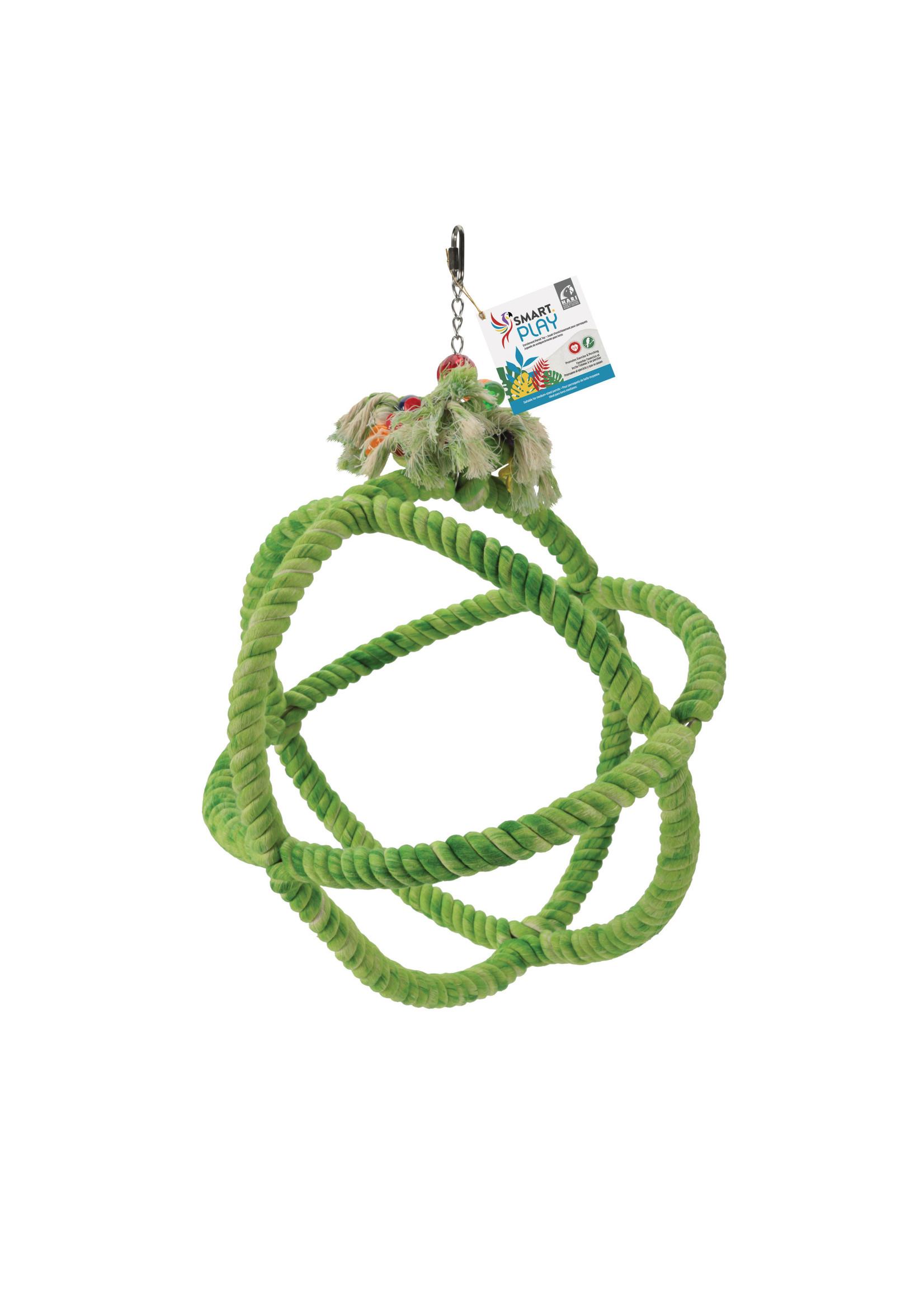 Hagen Hagen HARI SMART.PLAY Enrichment Parrot Toy - Roper Orbiter Perch n Swing - Large