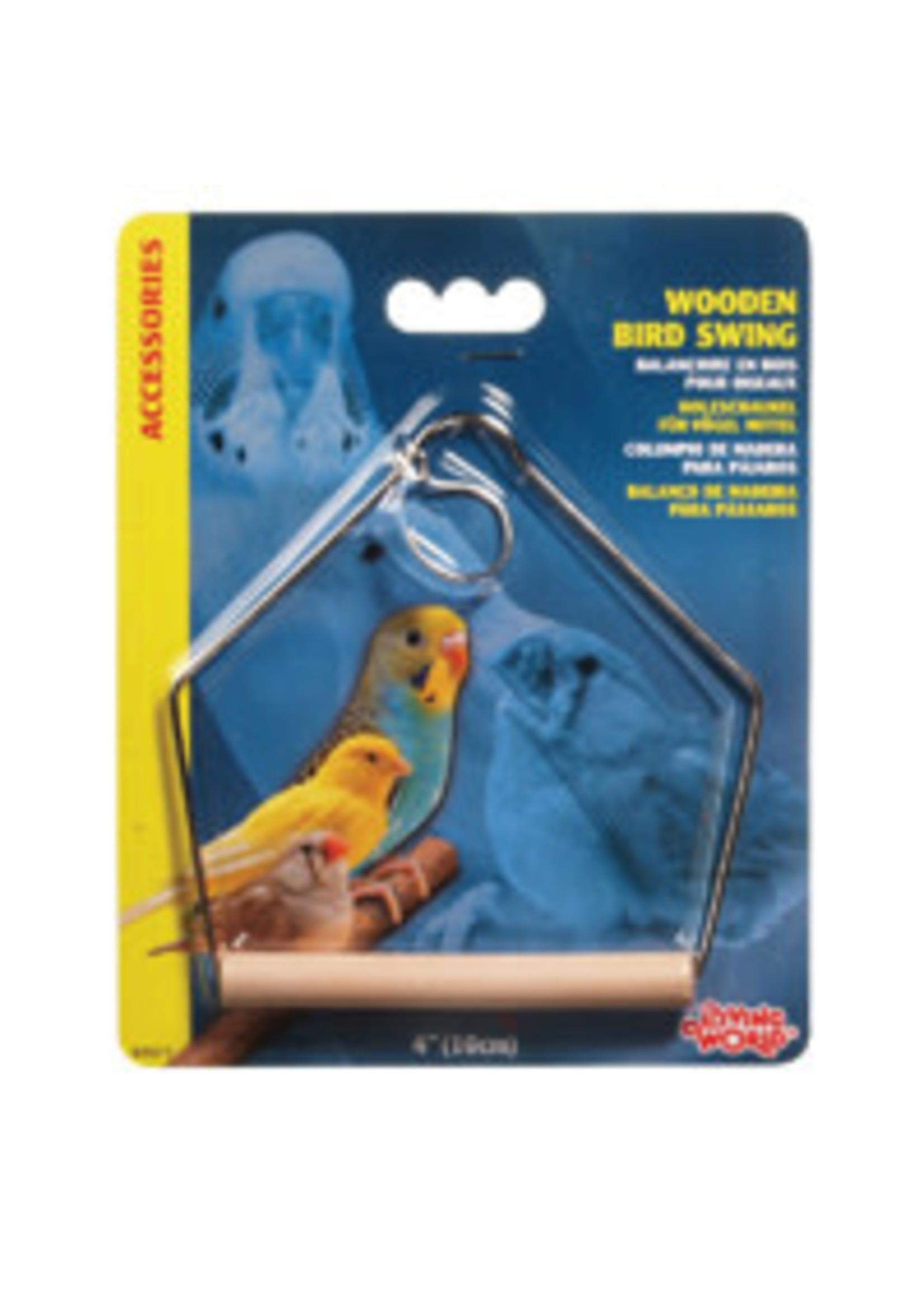Hagen Living World Wooden Bird Swing - Medium - 10 x 12.5 cm (4 x 5 in)