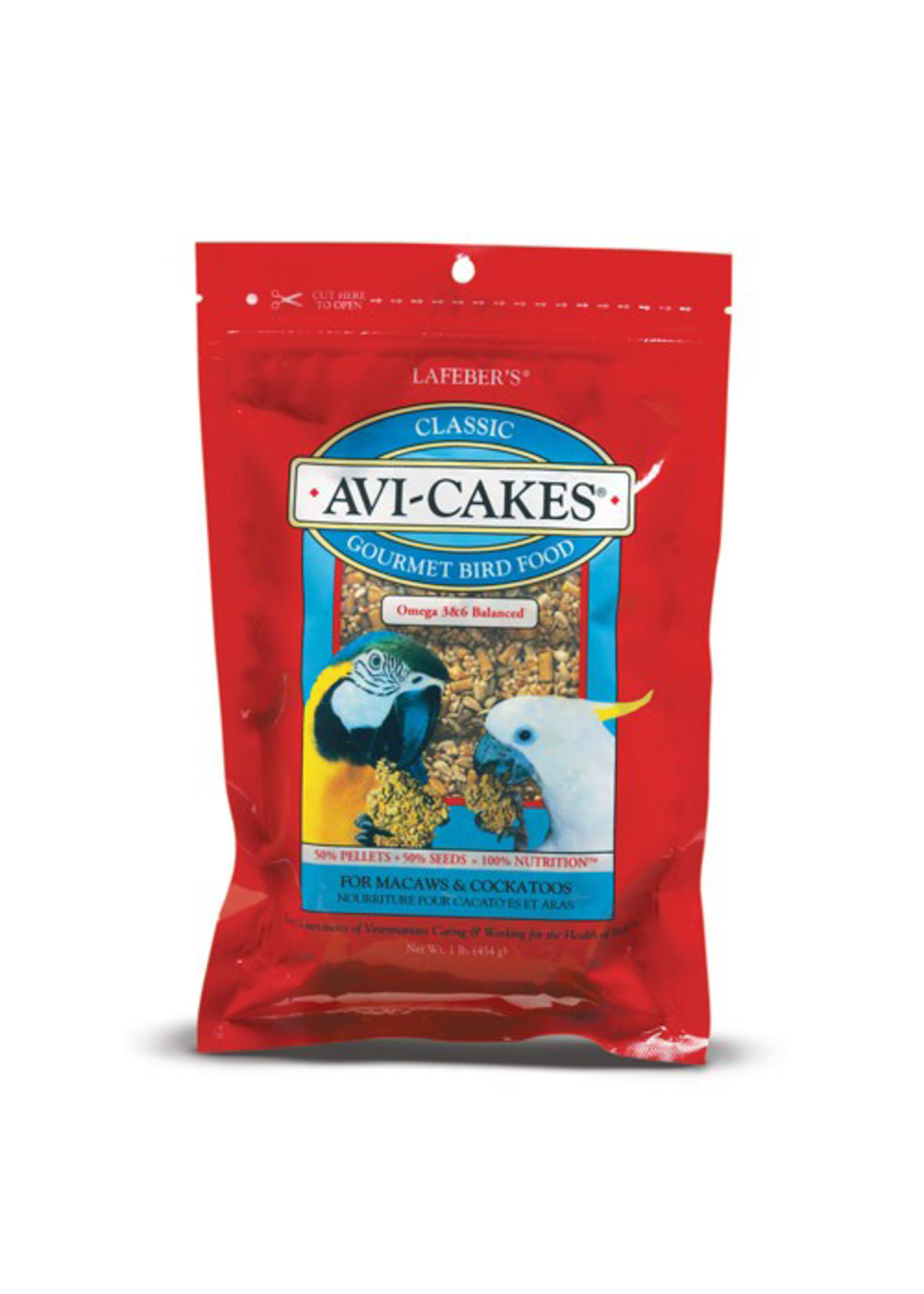 Lafeber's Lafeber Avi-Cakes Classic for Macaws, Cockatoos (1lb)