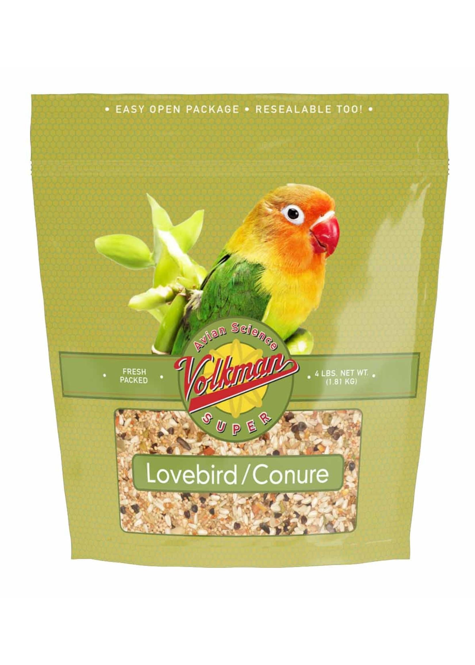 Volkmans VK Avian Science Lovebird/Conure(4lb)