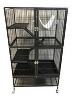 Arthur Arthur Ferret Cage Villa Azura Black (80x54x137cm) (32xx22x54in)