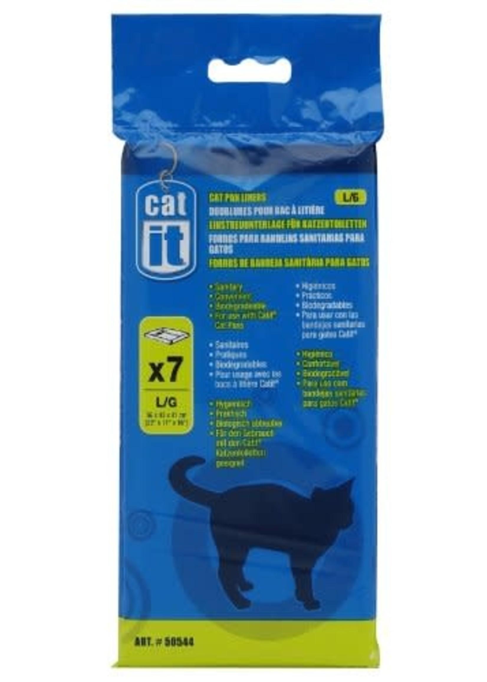 Hagen Catit Cat Pan Liner, Clear Medium Bag