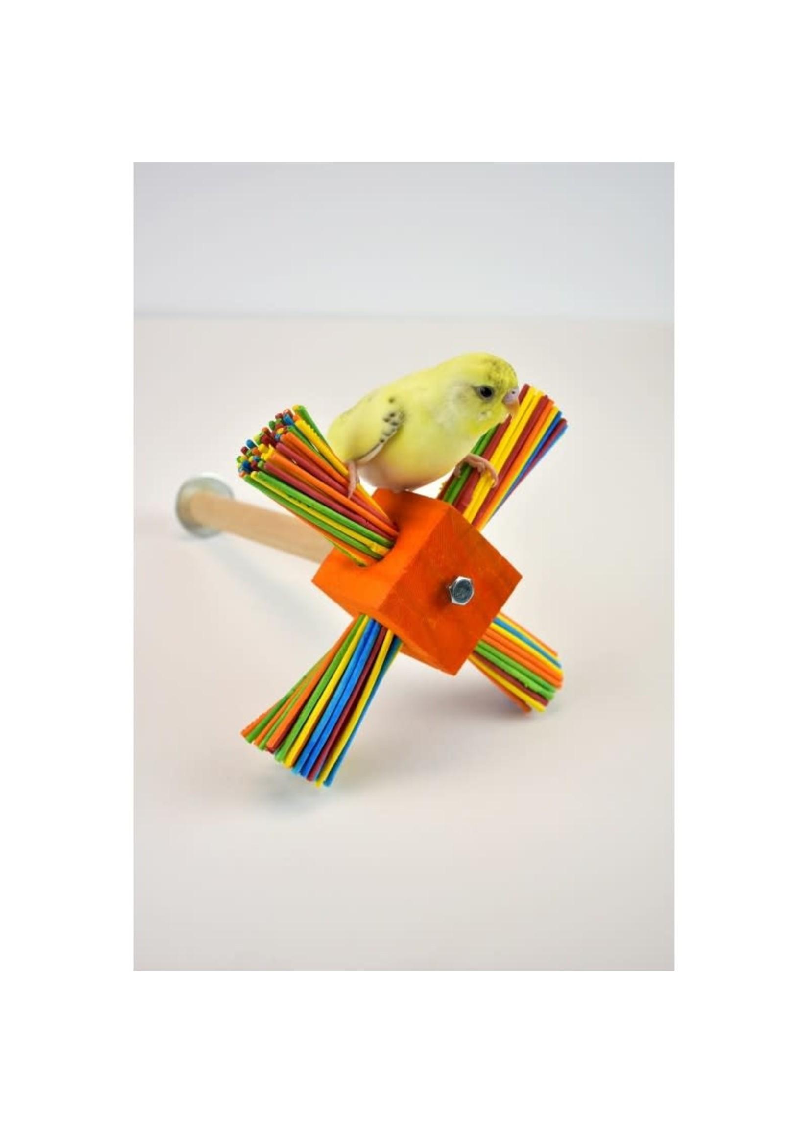 Glitter Pets GP Wood Spinner Perch A348