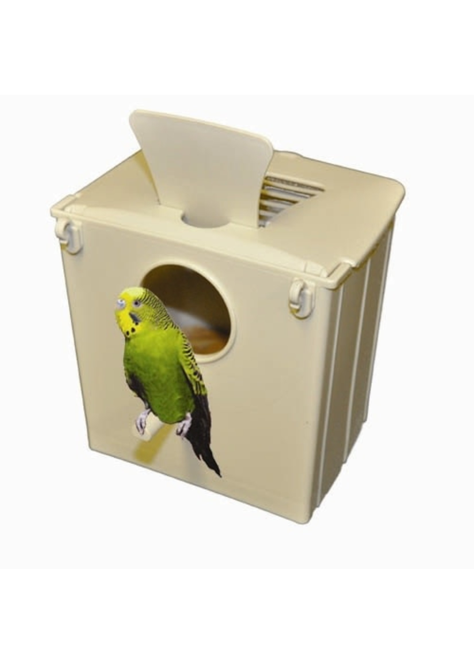 Kings Cages Kings Parkeet Nest Box With Wooden Egg  Holder