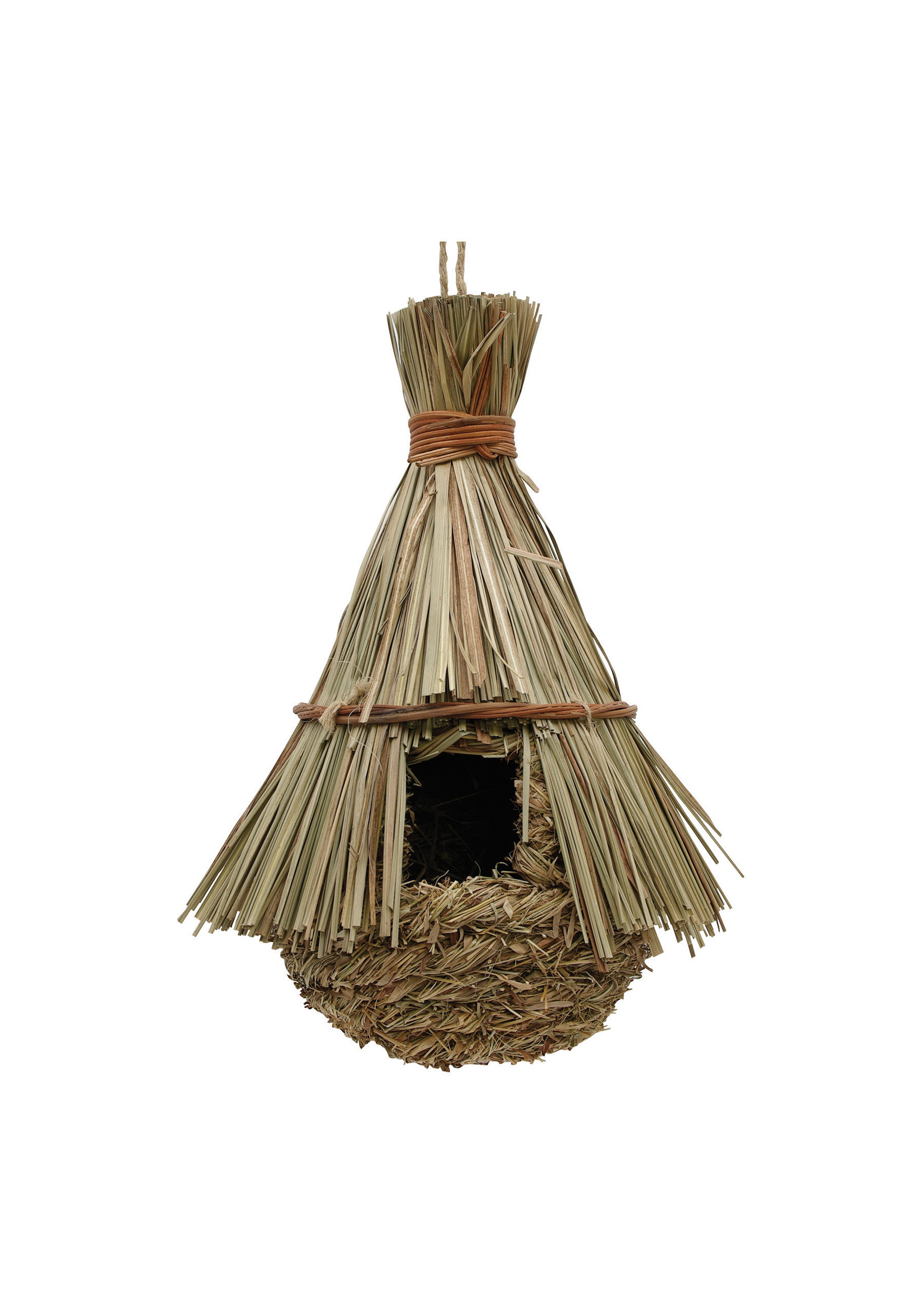 Living World Living World Outside Nest, Reed w/Grass, Hut