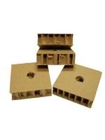 CND Honey Comb cardboard  (.75″H X 2.5″W X 2.5″LO) (H1/2)