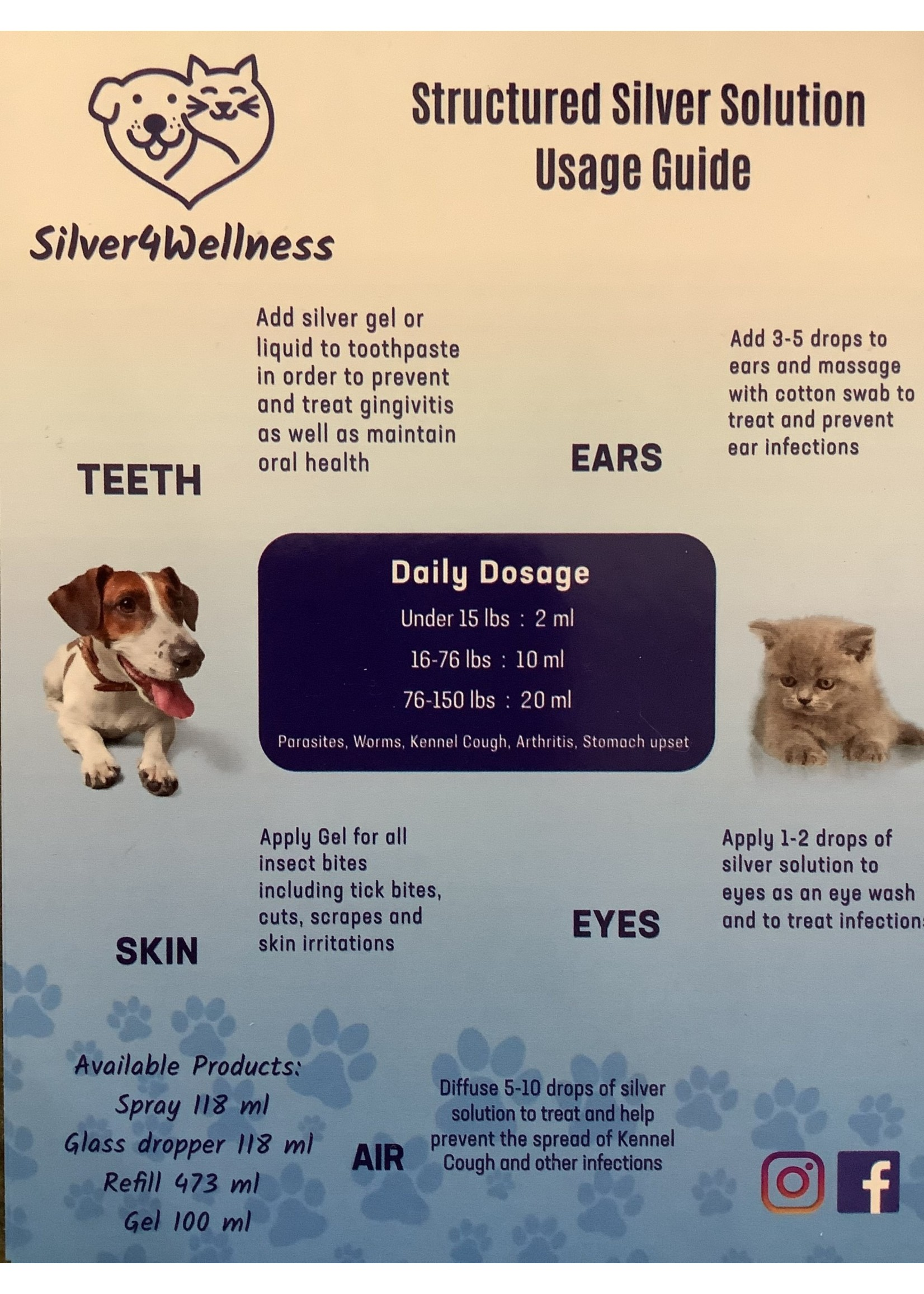 Silver4Wellness Structured Silver Solution for Pets (118ml)