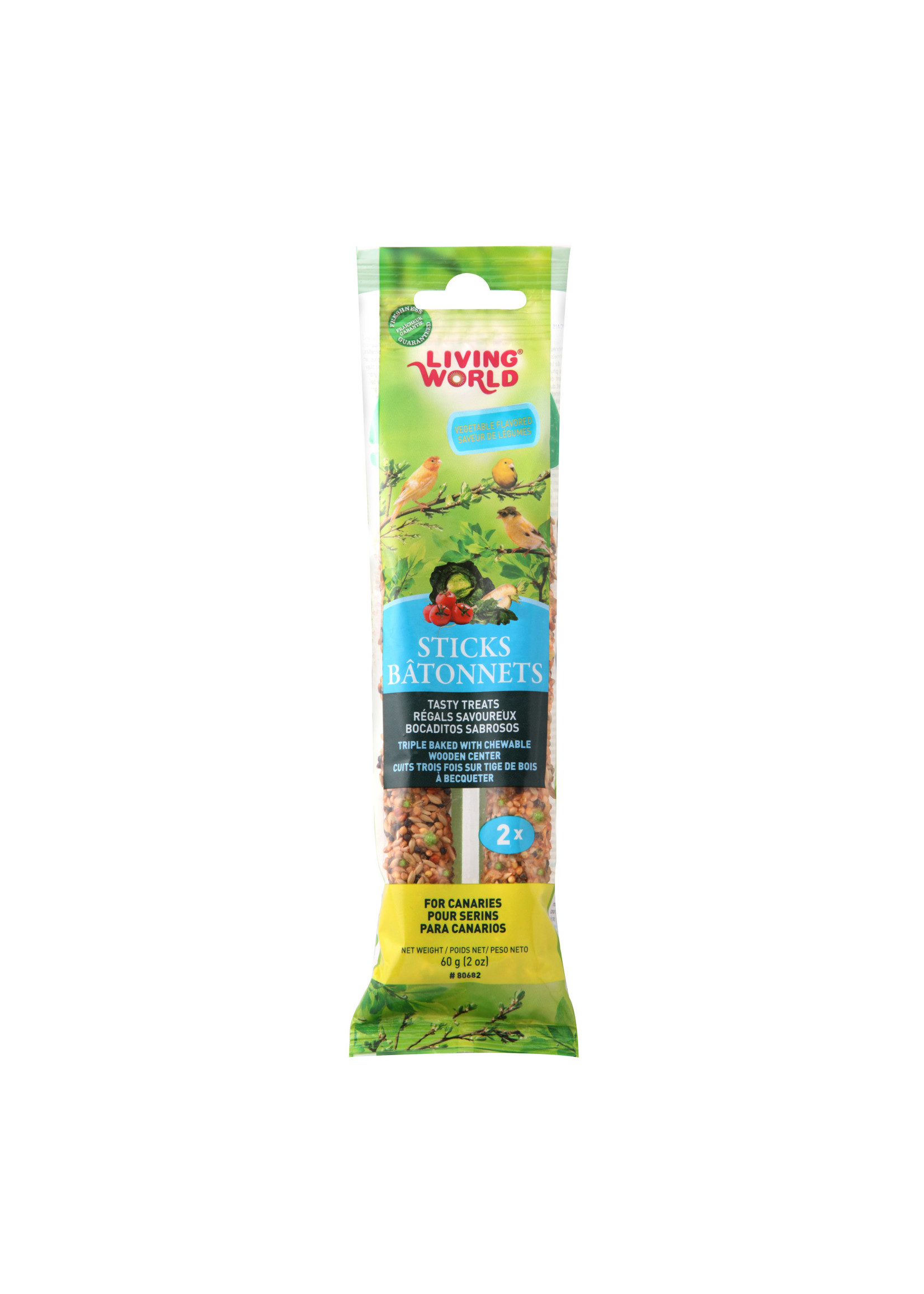 Living World Hagen Living World Canary Sticks - Vegetable Flavour - 60 g (2 oz), 2-pack