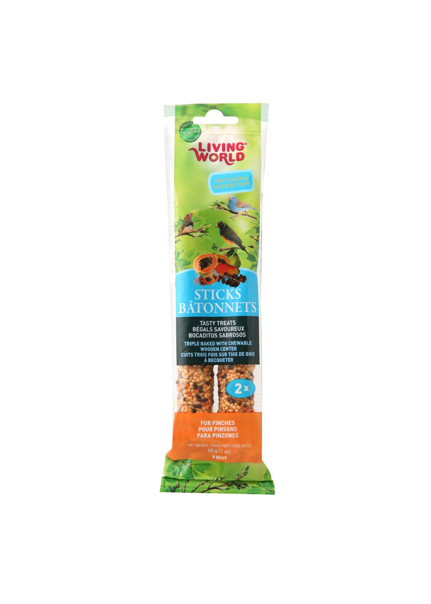 Living World Hagen Living World Finch Fruit Stick, 2-pack 60gr