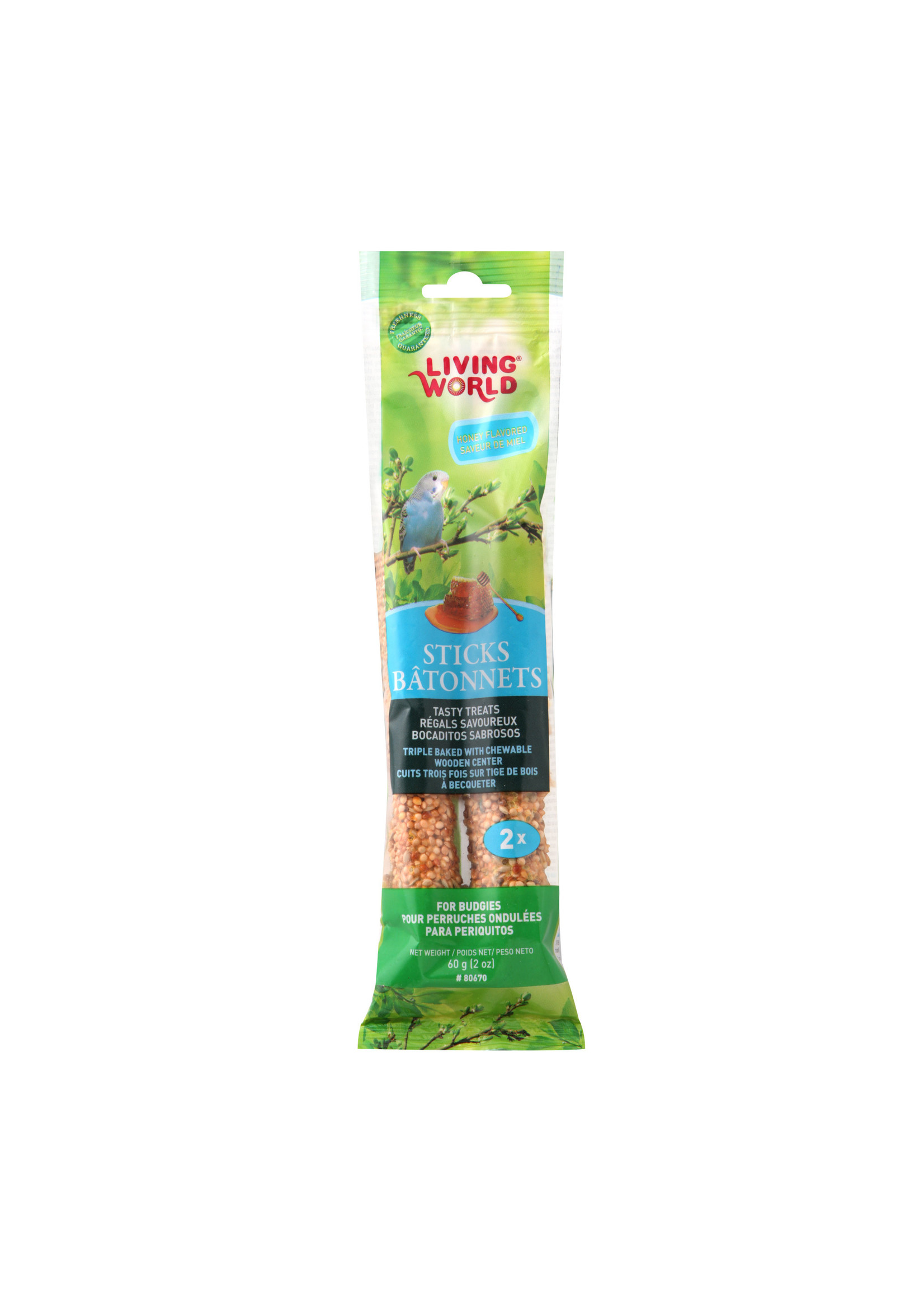 Living World Hagen Living World Parakeet Honey Stick, 2-pack 60gr