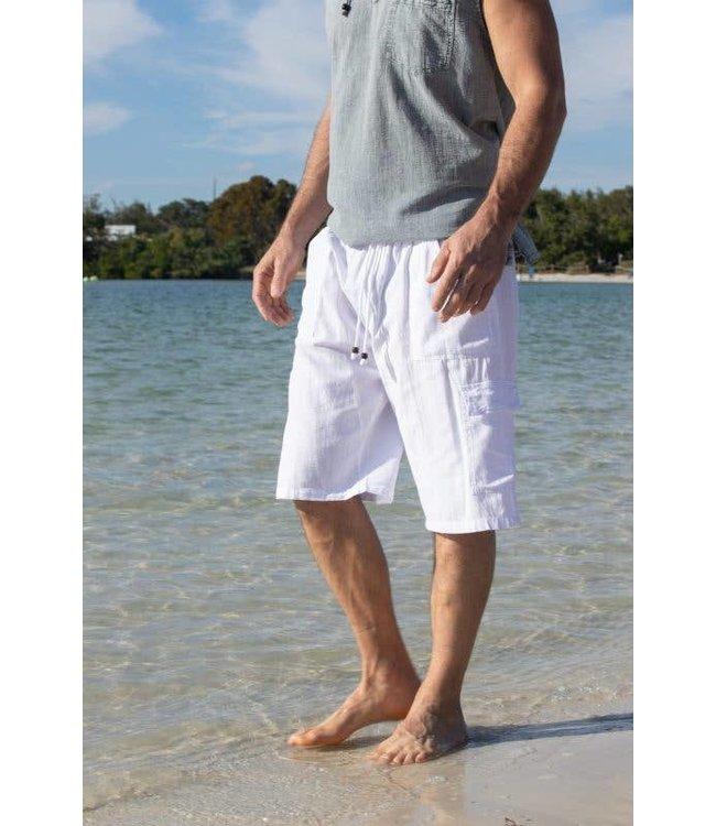 Cotton Natural Cotton Natural White Bermuda Shorts