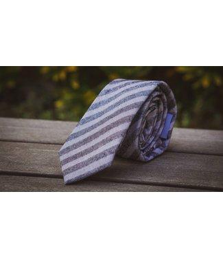 Ella Bing Haberdashery Grey Stripe Necktie