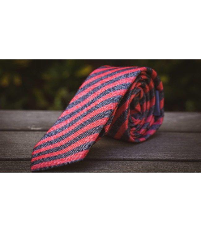 Ella Bing Haberdashery Red Stripe Necktie