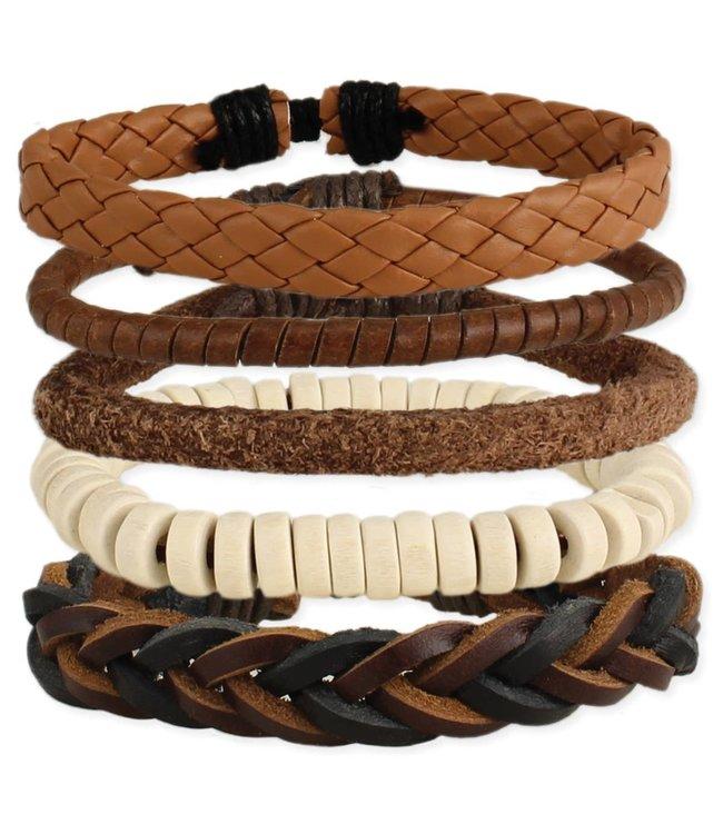Zad Man About Town Leather Bracelet Set
