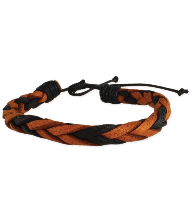 Zad Black & Brown Braided Bracelet