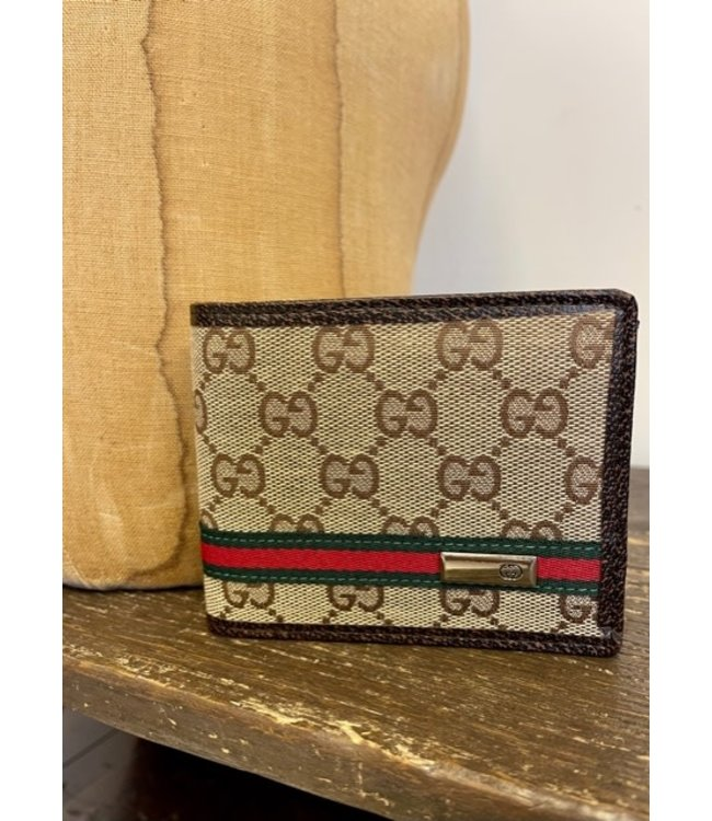 MY GUCCI Brown Trimmed Faux Gucci Wallet