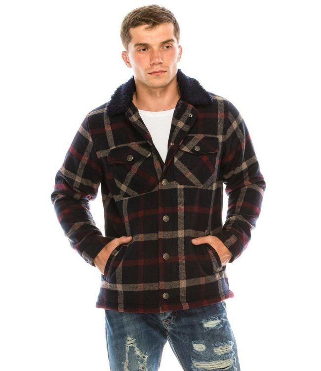 Ron Tomson Lumberjack Jacket with Teddy Lining