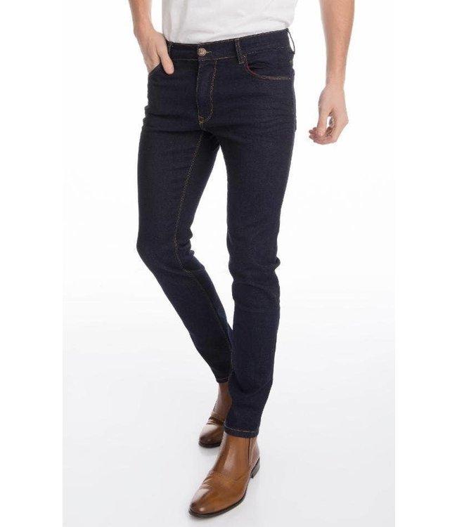 Ron Tomson Sleek Tapered Jeans - Dark Blue