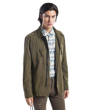 Ron Tomson Epaulette Shoulder Zip Jacket