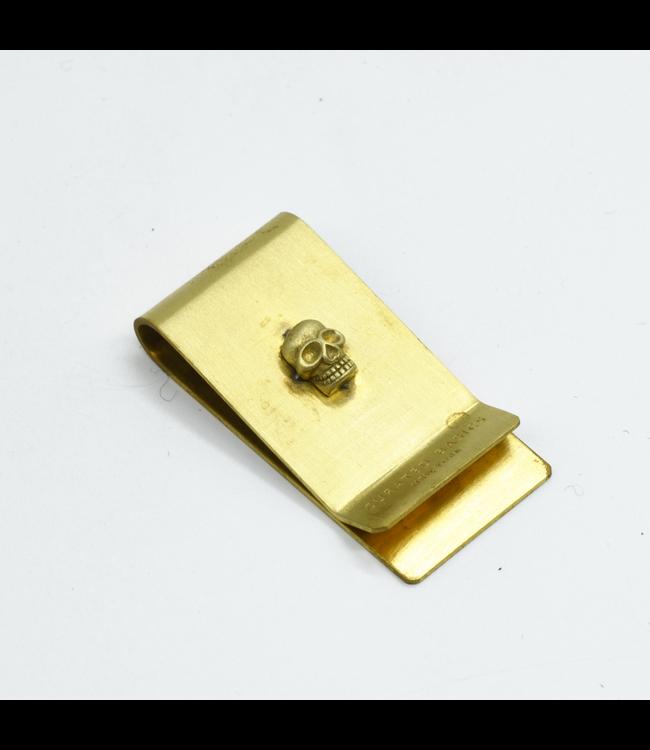 Curated Basics Skull Brass Money Clip