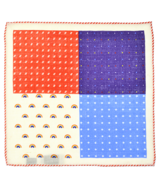 Curated Basics Rainbow 4 Sided Wool Pocket Square