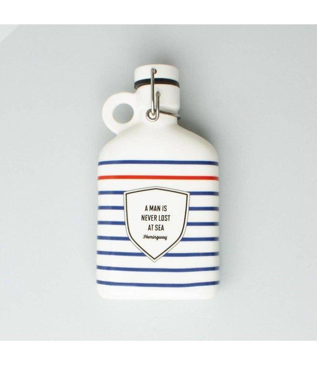 Men's Society Ceramic Flask - Hemingway