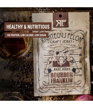 Righteous Felon Craft Jerky Bourbon Franklin Beef Jerky