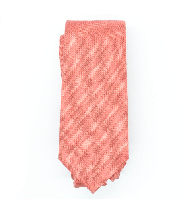 Curated Basics Coral Linen Tie